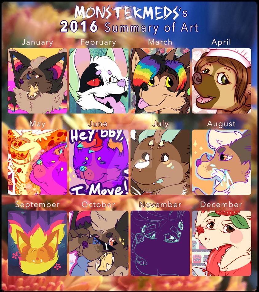 2016 Summary of Art by MonsterMeds