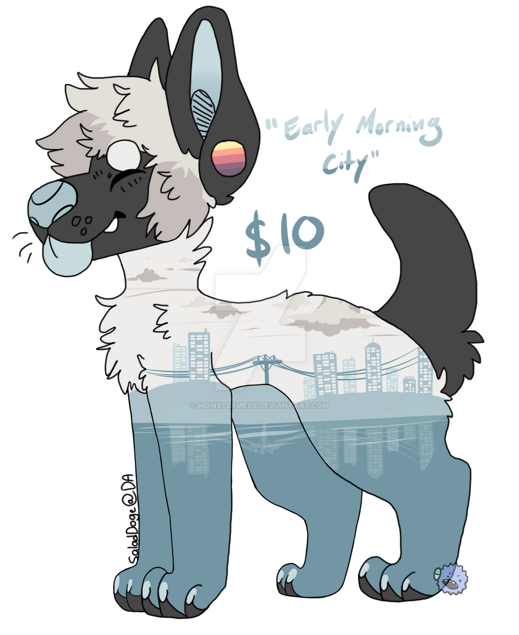 Adopt: Early Morning City CLOSED! by MonsterMeds