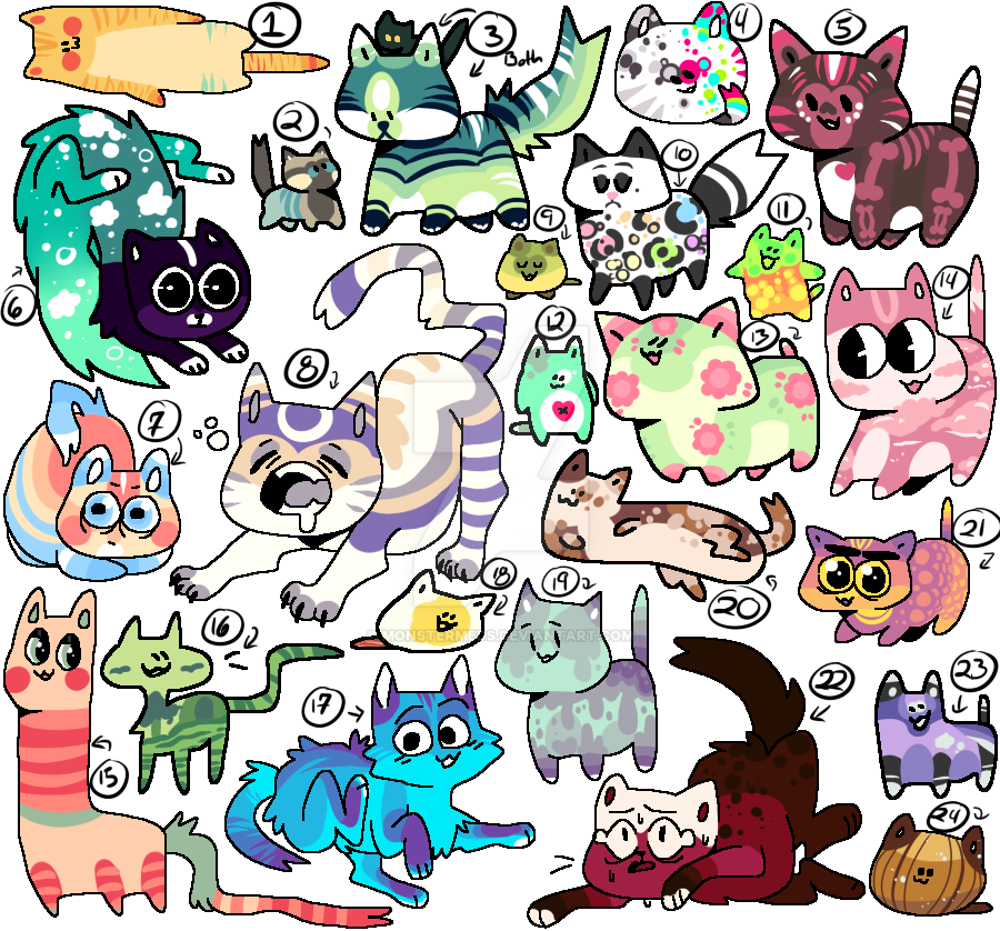 So many cat Adopts (OPEN) by MonsterMeds
