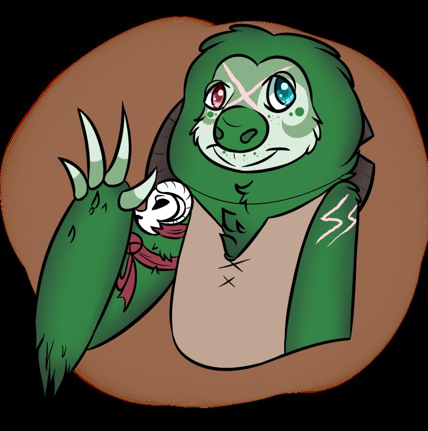 Henlo sloth by MonsterMeds