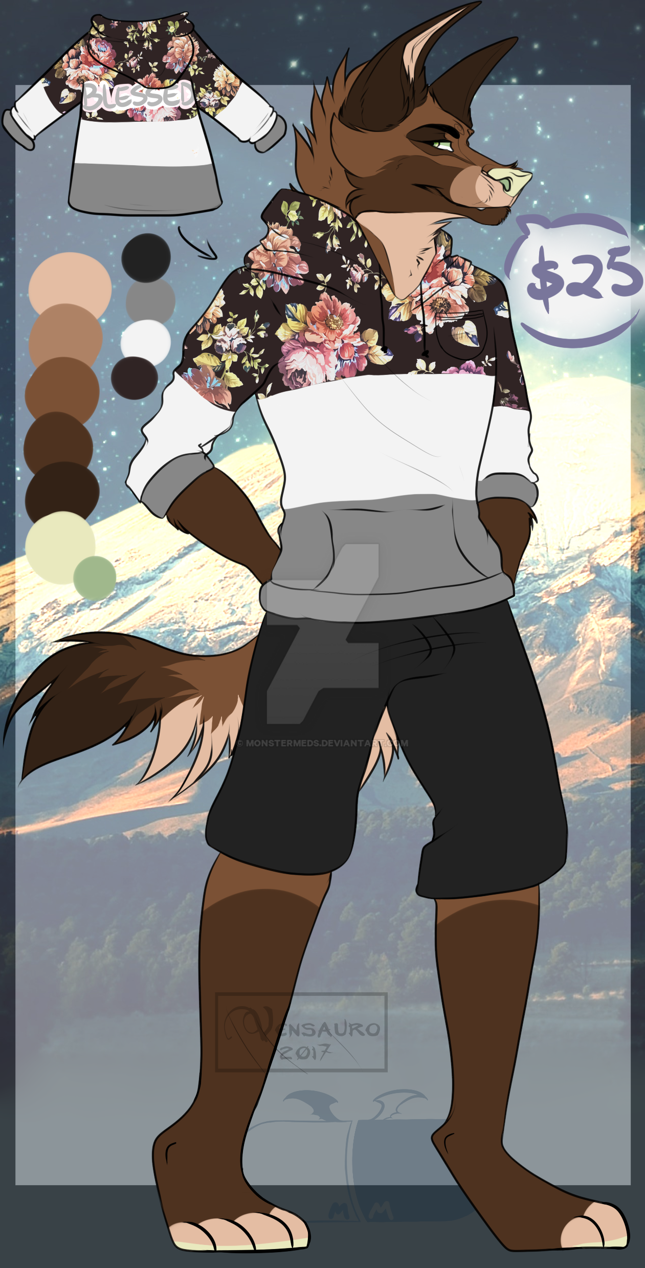 Anthro Adopt - OPEN - Paypal Only! by MonsterMeds