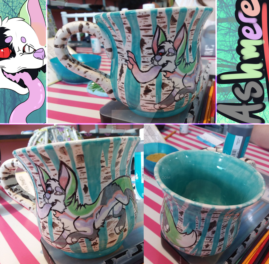 Painted Ashmere Mug by MonsterMeds
