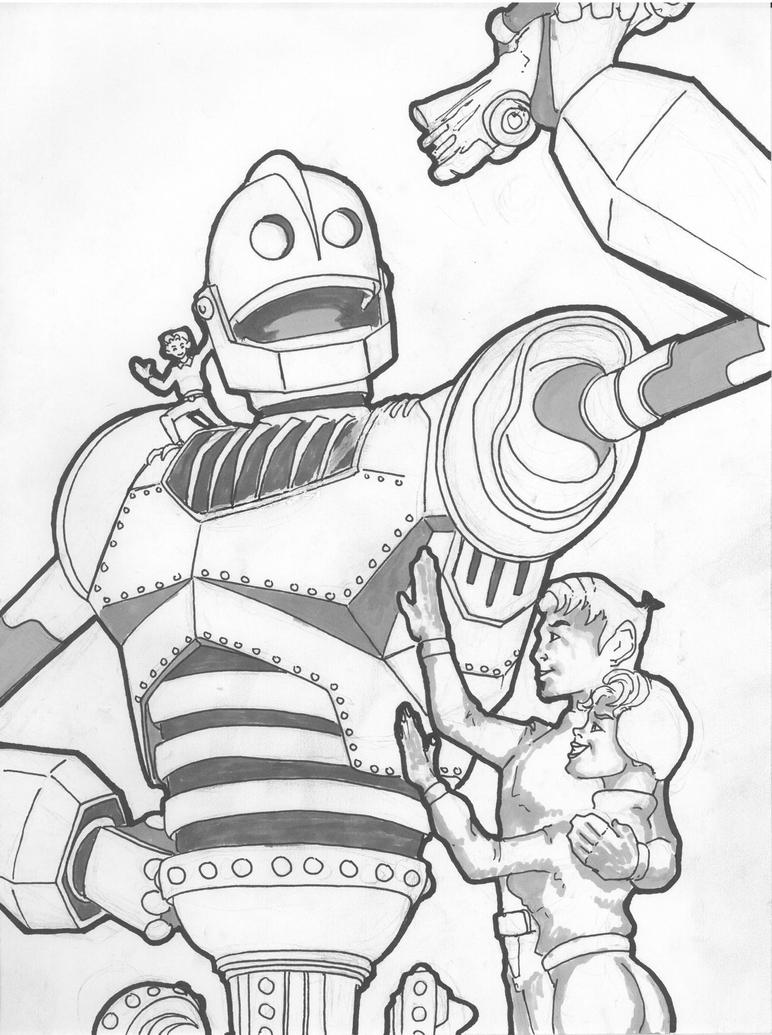 the iron giant by bludshed69 on deviantart - Selfish Giant Coloring Pages