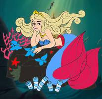 Aurora as Ariel by kingdomdisney