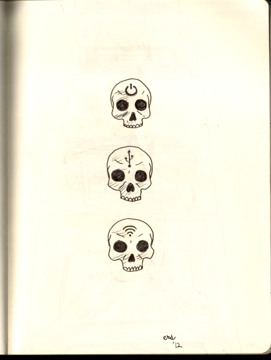 three skulls by erspears
