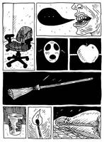 chair, mask, broom (the not comix 4.06) by erspears