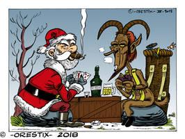 Santa and Krampus
