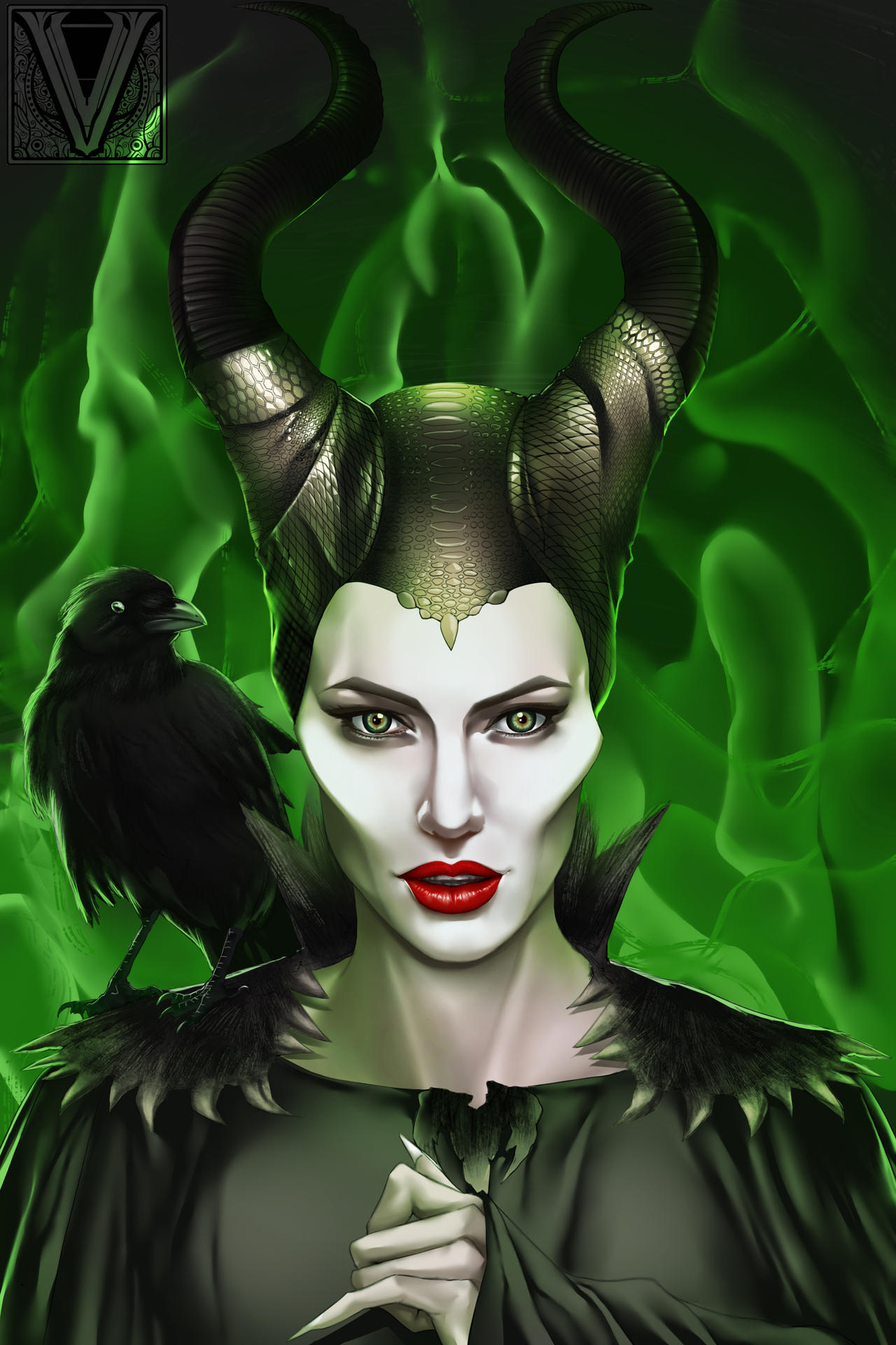Maleficent Finish by mr-Vy