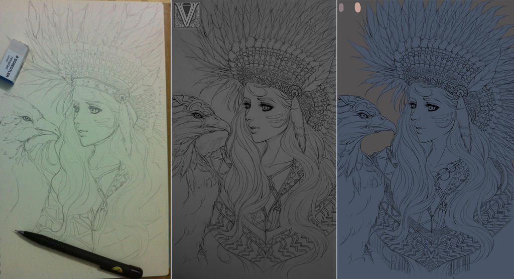 Indian girl W.I.P by mr-Vy