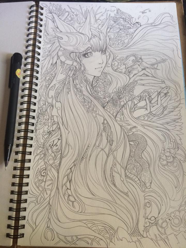line artwork ( pencil ) by mr-Vy