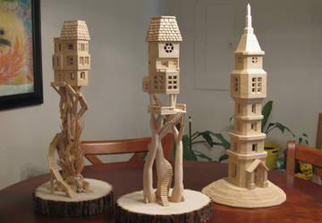 Bob's Toothpick City by Bob Morehead - sculptures by BobsToothpickCityArt