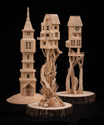 Toothpick Sculptures - Bob Morehead by BobsToothpickCityArt