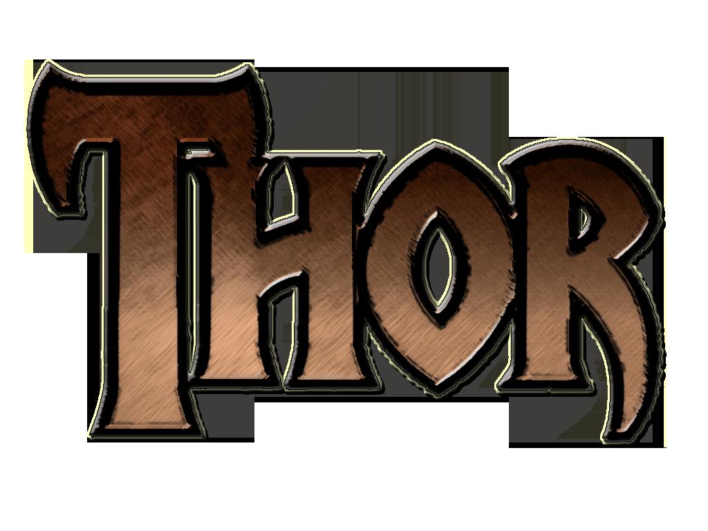 fan thor 2011 movie logo brown by marvelfreshman on