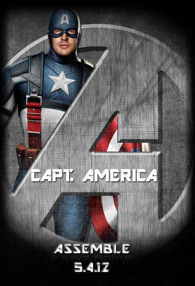 Avengers Standee: Capt America