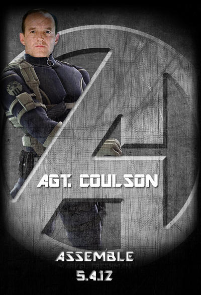 Avengers standee agt coulson by marvel freshman