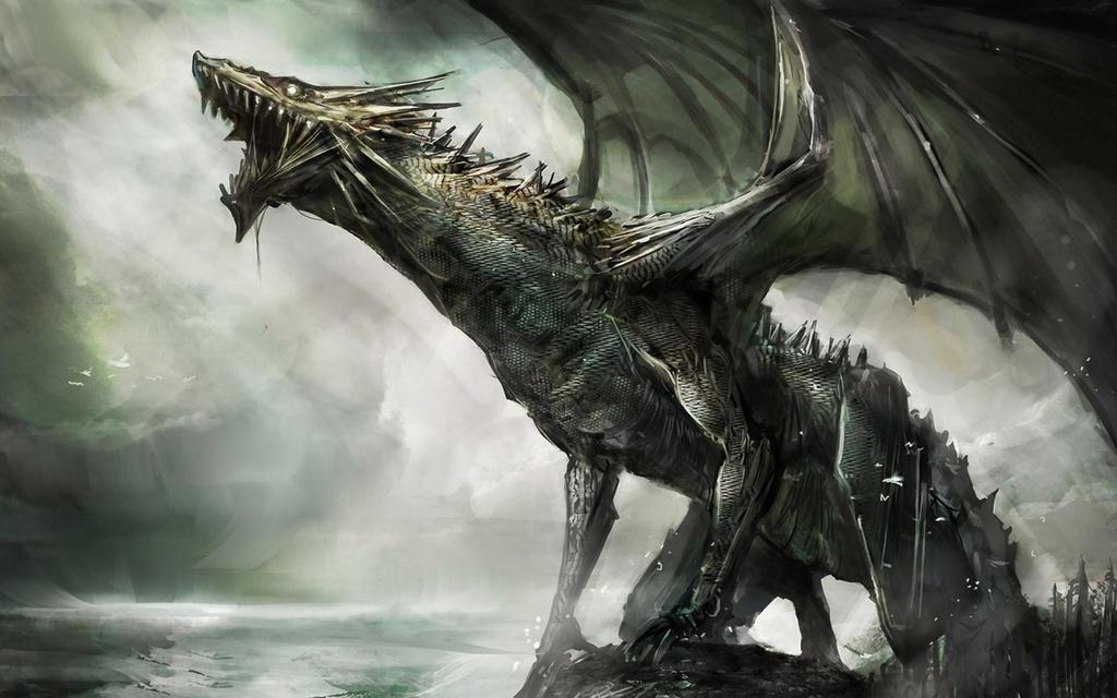 Black Dragon Wallpaper by deaload