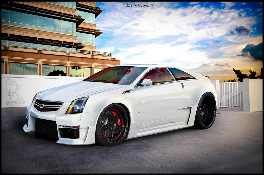 with custom camshaft white cts wrap by satin cadillac v