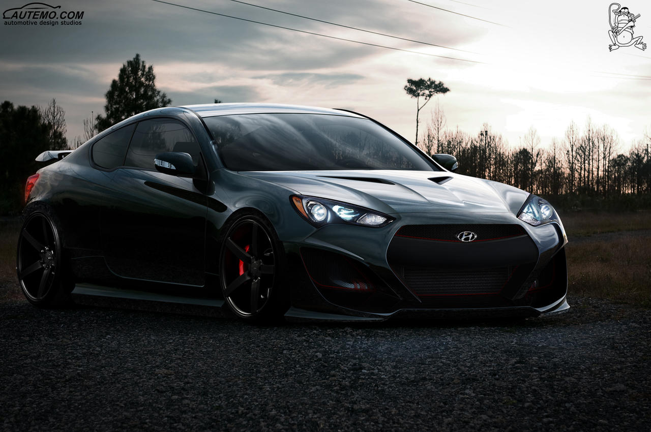 Hyundai Genesis Coupe Front By Chitadesigner On Deviantart