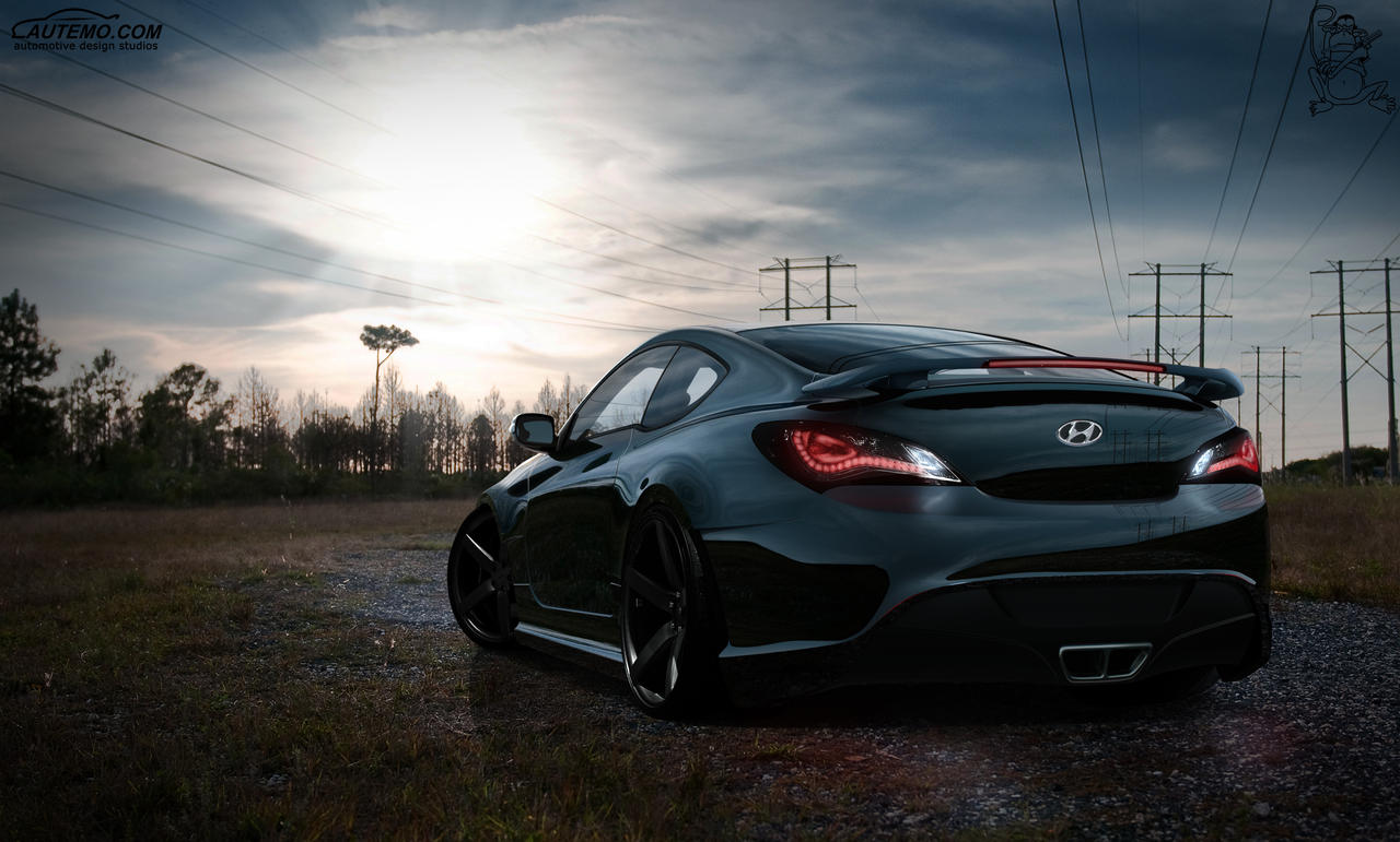 Hyundai Genesis Coupe Rear by ChitaDesigner