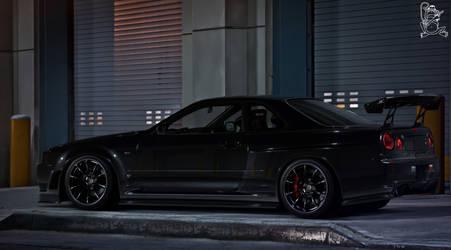 Murdered R34 GTR by ChitaDesigner