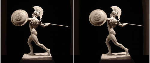 Achilles 3d Stereoscopic cross eye view by AleJorquera