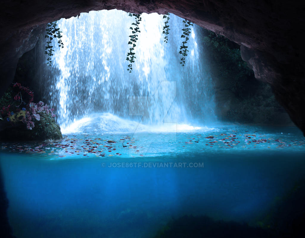 cave waterfall