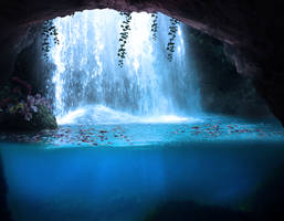 cave waterfall by jose86tf