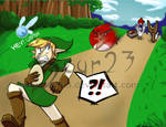 Link vs The Angry Birds