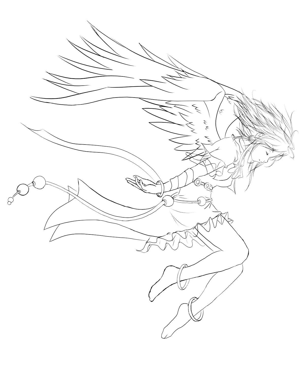Line Art Angel : Angel lineart by chrono on deviantart