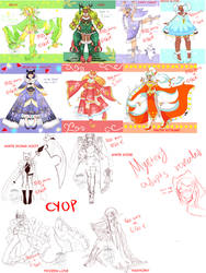 Christmas/Winter ADOPTS revealed [OPEN/SETPRICE] by StarryPuffy-Adopts