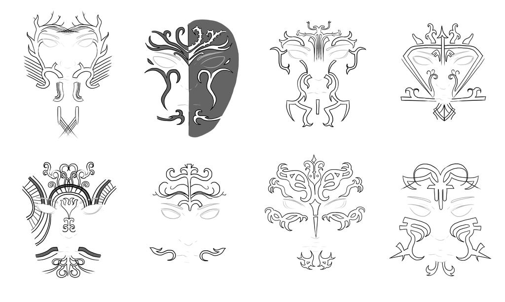 Req] Dalish Elf Face Tattoos (War paint) DAO : V - Skyrim