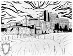 Cornell tech roosevelt island drawing by AriChanBlueblaze