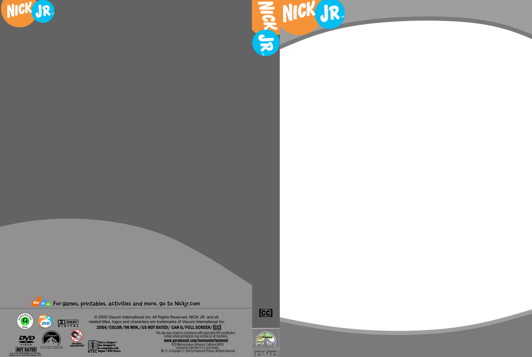 Nick Jr Dvd Template By Jnohai On Deviantart