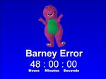 Barney Error on Windows 3.1