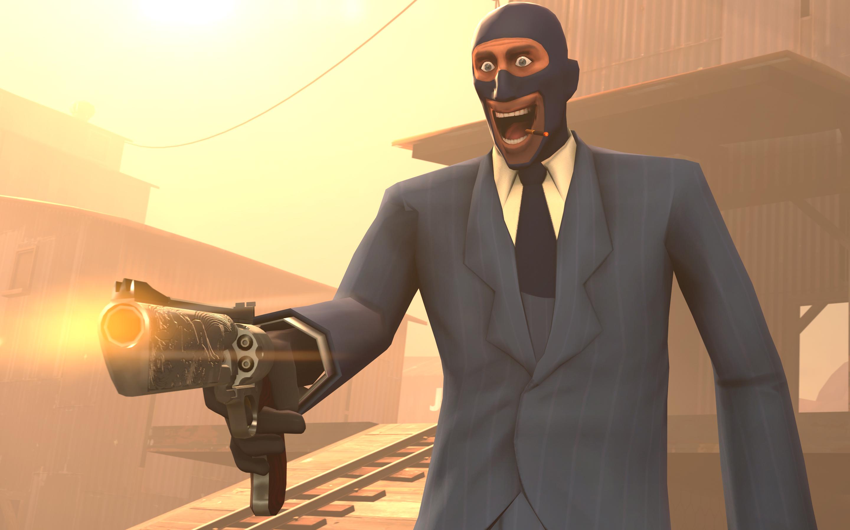 spy fortress team gun deviantart fan tf2 screen happy pre shot