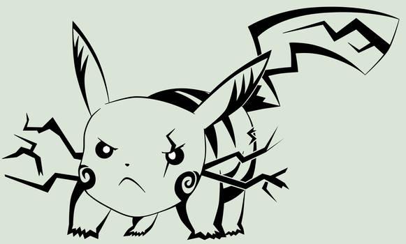 #025 Pikachu: Attack stance