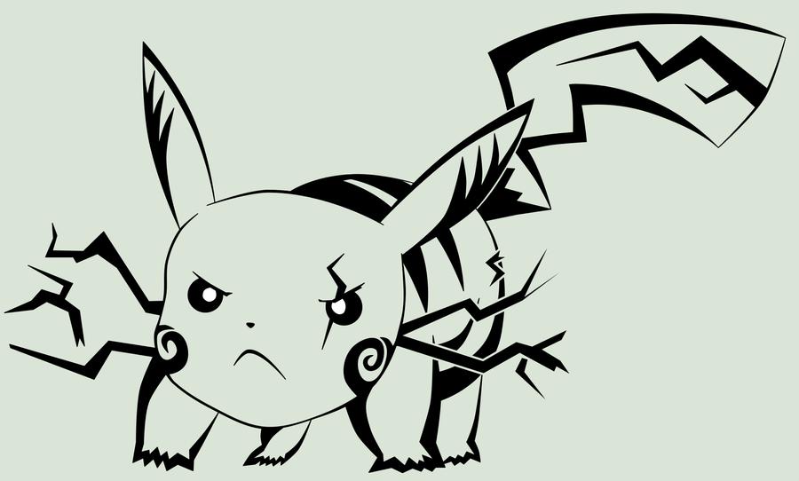 025 Pikachu Attack Stance By Froznshiva On Deviantart