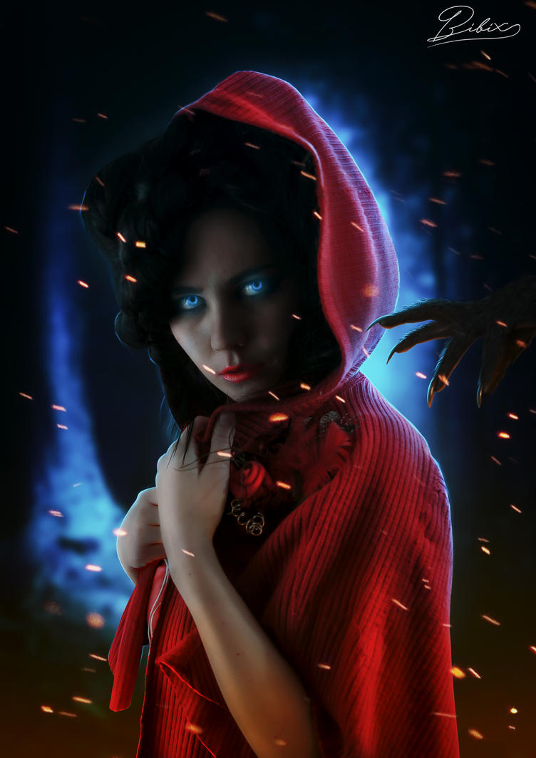The Wolf Is Here (Red Ridding Hood) by destroyer971