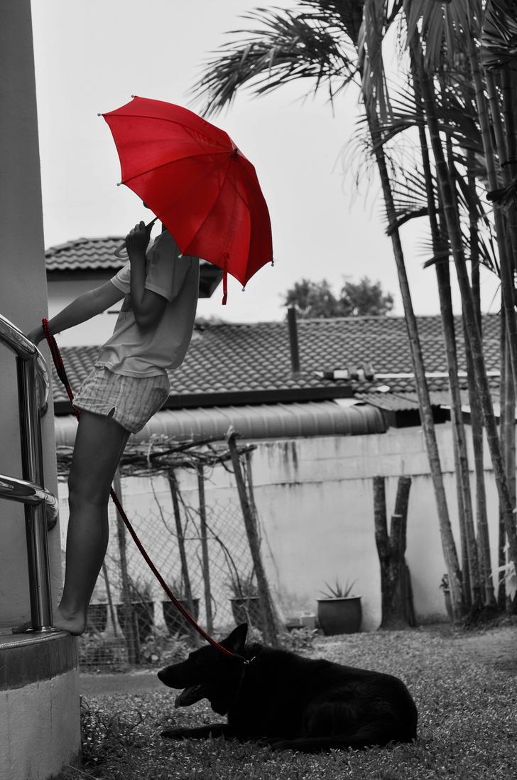 Girl with the red umbrella 4 by shadows fang on deviantart for Painting red umbrella