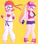(Commission) Terry and Ryu inkling transformation