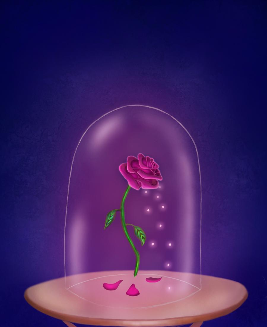 Resultado de imagen para rosa encantada bella y bestia