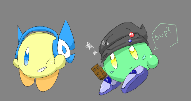 Yellow and Green Borbs by KeebyZ
