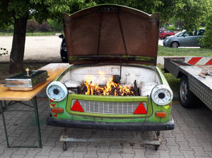 Oldtimer barbecue