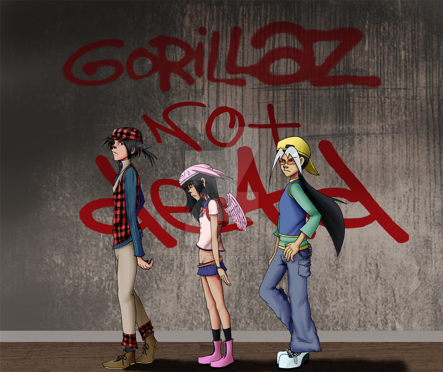 Gorillaz Not Dead by witch-girl-pilar