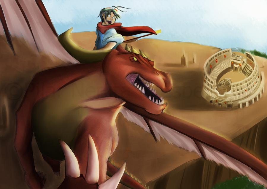dAF: Dragon Riding by witch-girl-pilar
