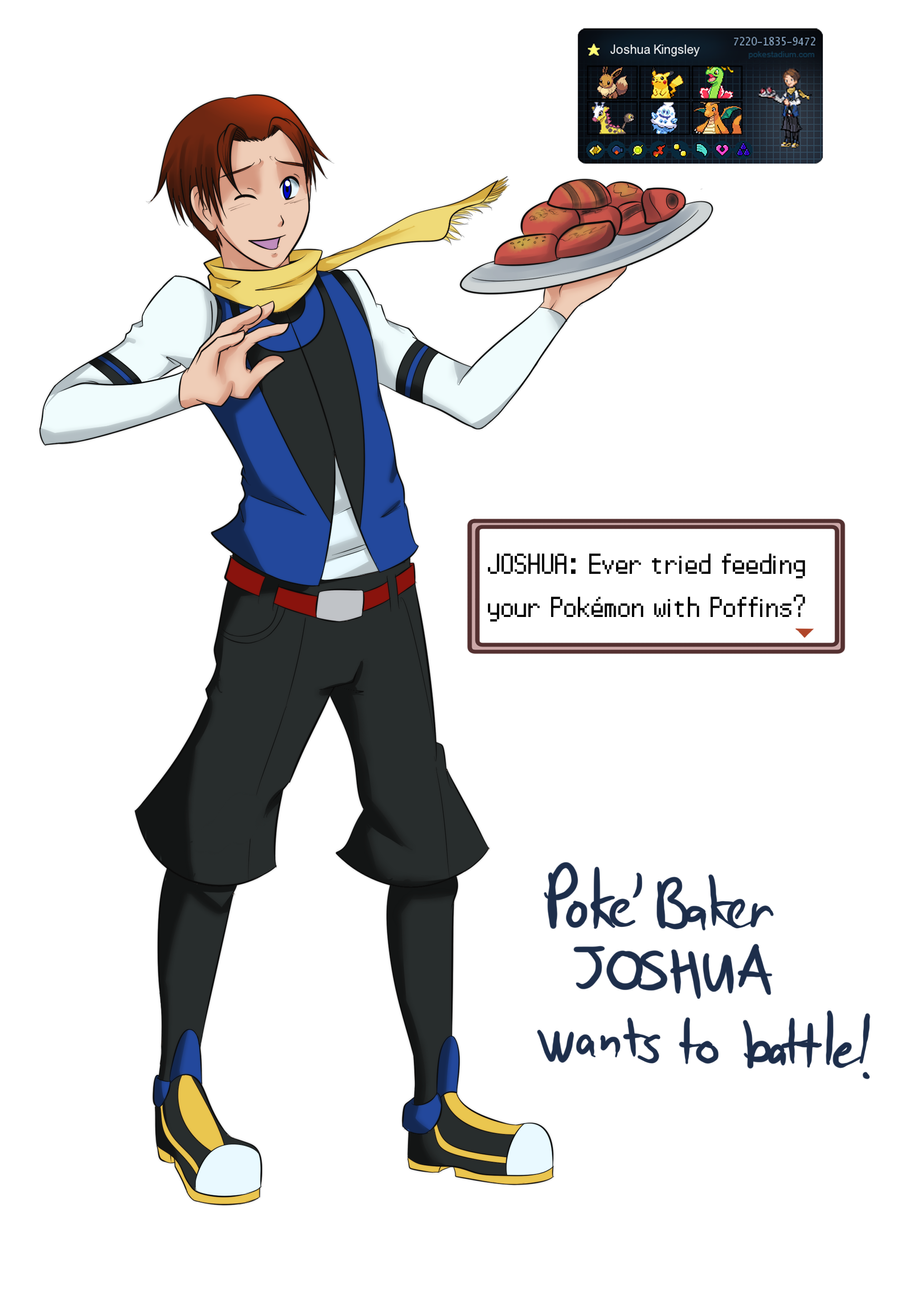 MM X Pokemon: PokeBaker Joshua by witch-girl-pilar