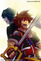 KH3 and FFVX: Sora And Noctis by witch-girl-pilar