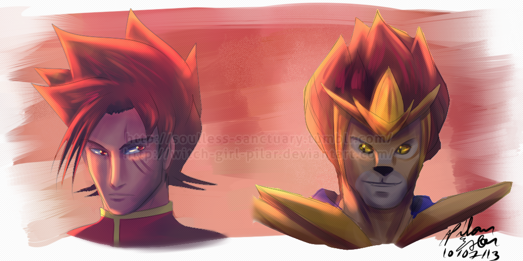 Our Fiery Spikey-Haired Heroes by witch-girl-pilar
