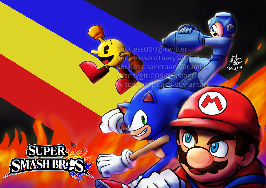 SSB4: The Legendary Gaming Mascots by witch-girl-pilar