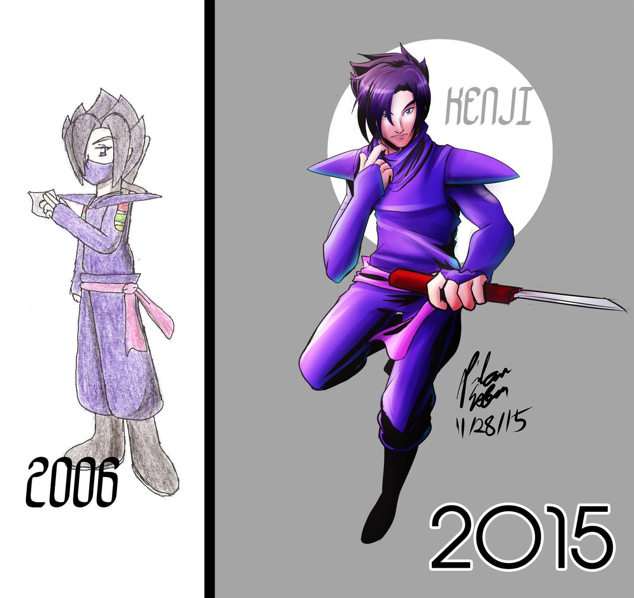 Kenji: 2006 VS 2015 by witch-girl-pilar